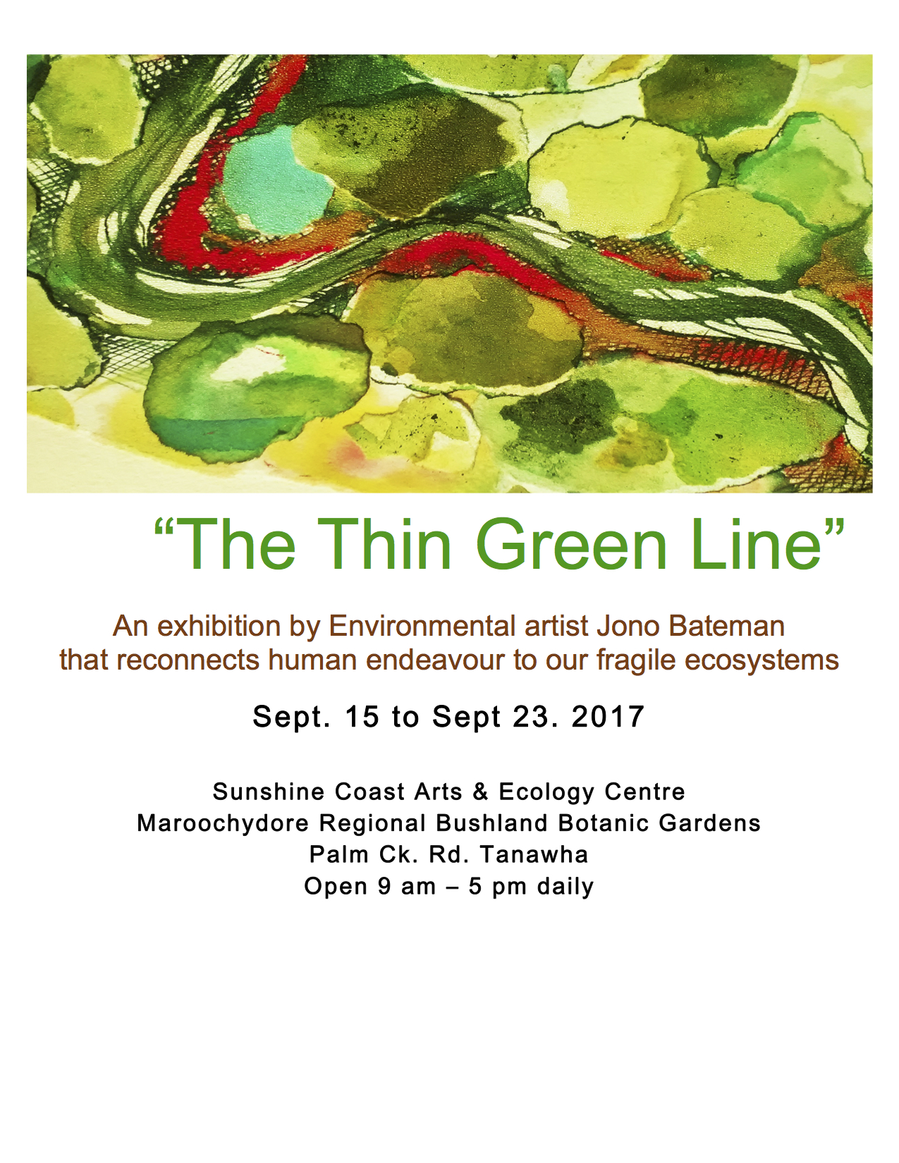 The thin green line flyer